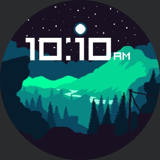 pixel night
