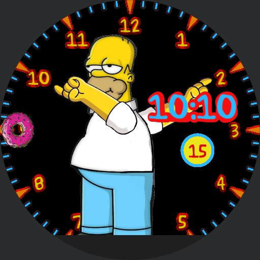 Homer Simpsons 3/floating Donnut