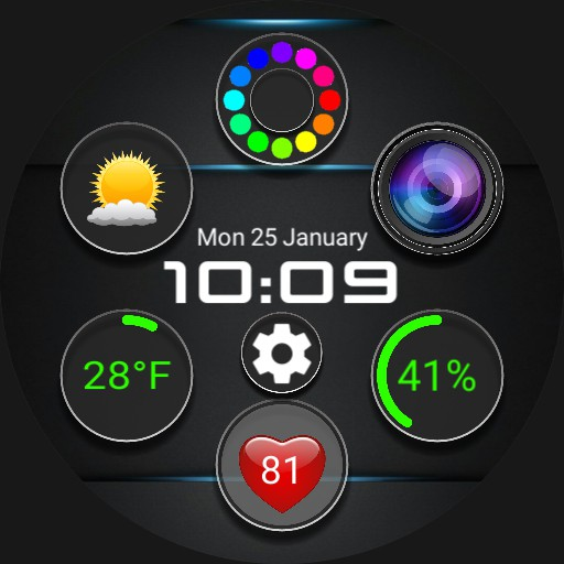 Future Watchface widget anim v3