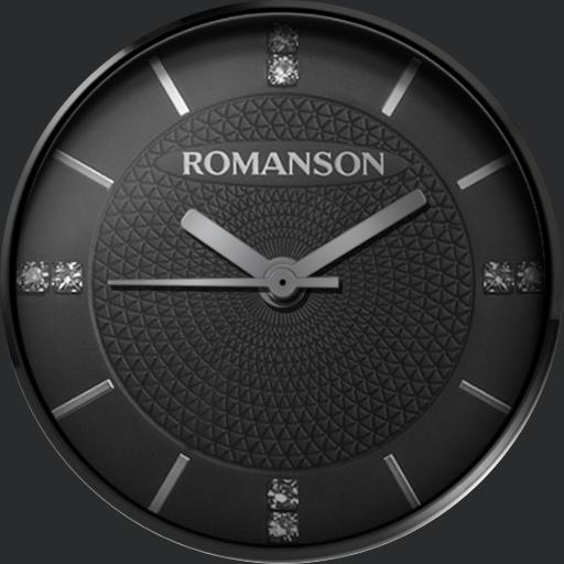 Romanson Ladies Black Automatic