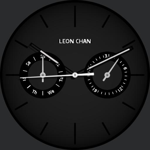 Leon black watch face