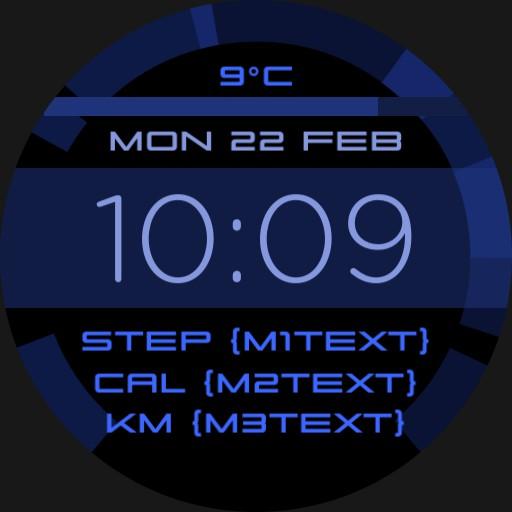 BlueFit - Step Cals KM
