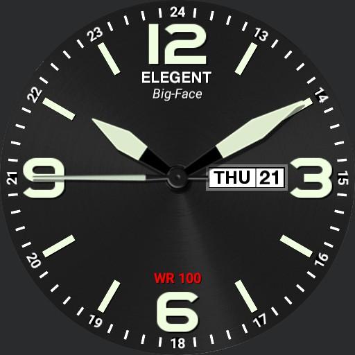 Elegent Big-Face Watch
