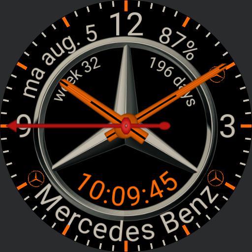 MERCEDES WATCH mojavesilver orange Copy