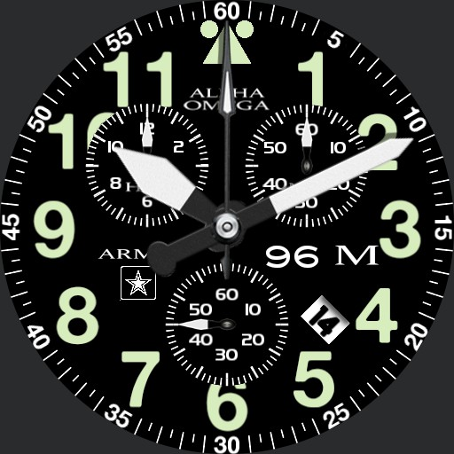 Military Army Aeromaster chronograph