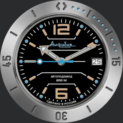 Vostok Amphibian Ref#120695 Military Diver Watch