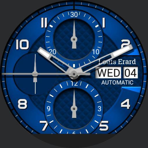 Louis Erard Heritage Chrono Dim Options Blue Copy