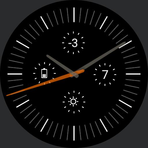Analog clock for runners