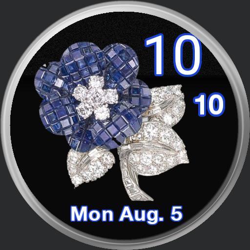 sapphire   diamonds rose