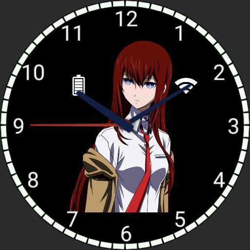 Makise Kurisu Steins Gate Watchmaker Watch Faces