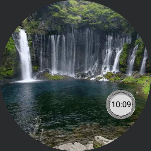 Waterfall 2 with app launcher for Samsung Galaxy Watch