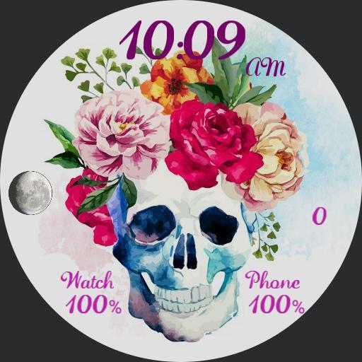 Skulls  Flowers