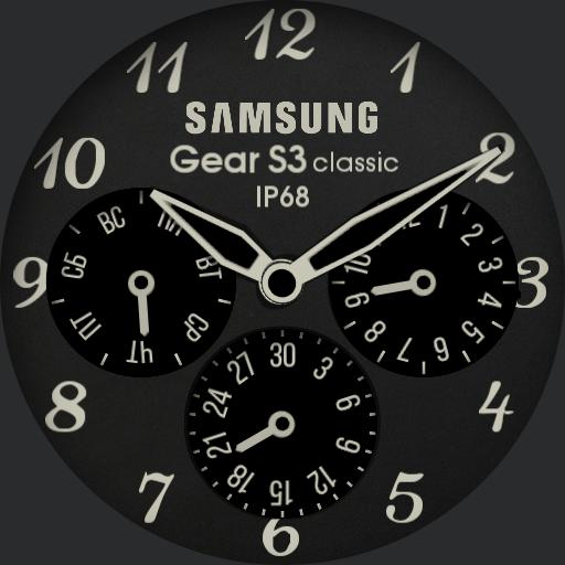 analog clock for s3 invers