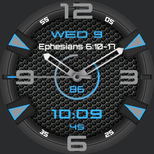 Ephesians 610-17, simple gray, blue