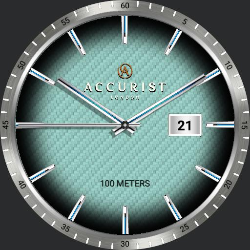 Accurist silver plated 7058