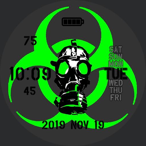 Radiation Hazard Bright Green 24hr