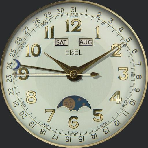 Ebel Triple Date Moonphase Calendar C1940s