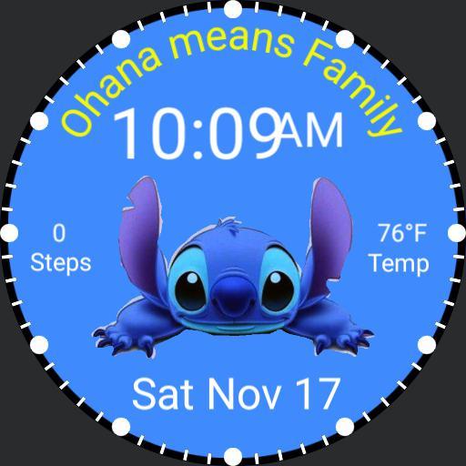 Stitch, Ohana means Famimy