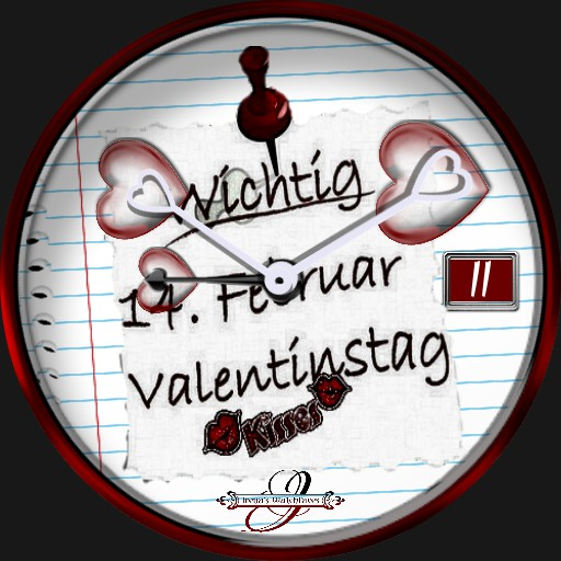 Valentinstag 3 Hands move