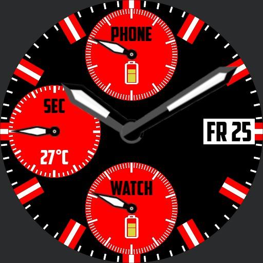 Chrono red and black V1