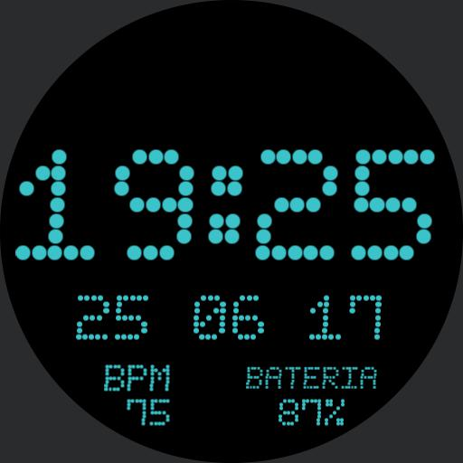 Watch LED Ciano ; BPM ; Bateria