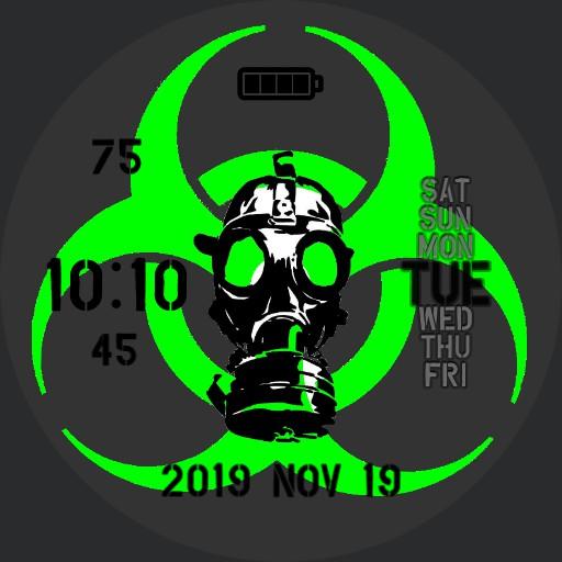 Radiation Hazard Bright Green 12hr