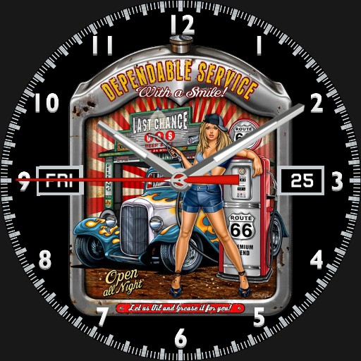Dependable Service Pin-Up Watch
