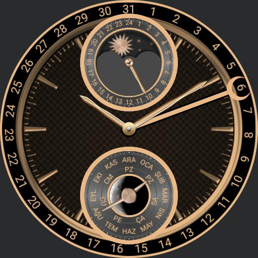 moon phase gold perpetual
