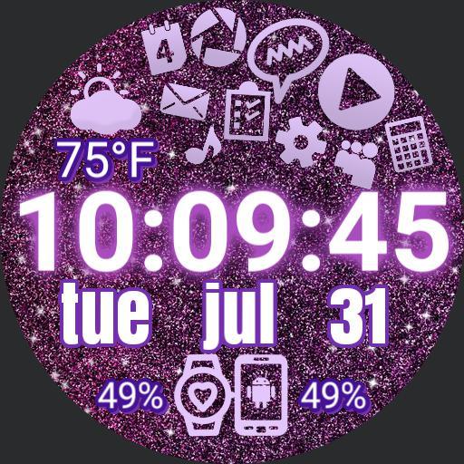 Sparkle Gradient Purple