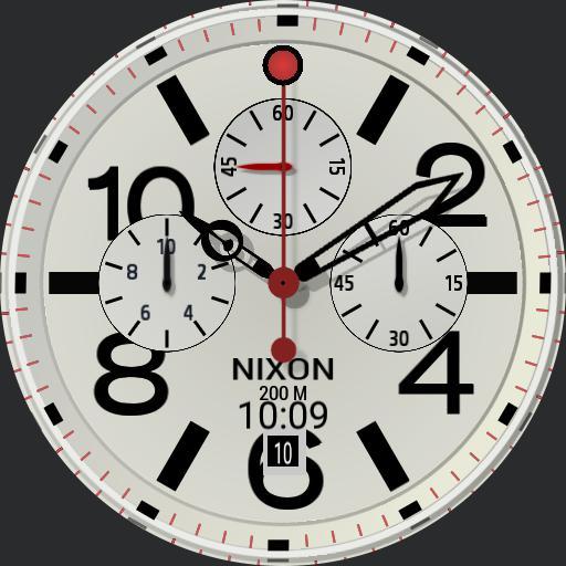 JR Nixon Chrono  White RC Copy
