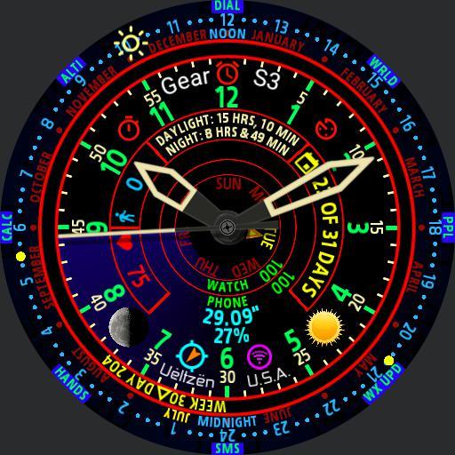 Sundial 24H Analog Gear S3