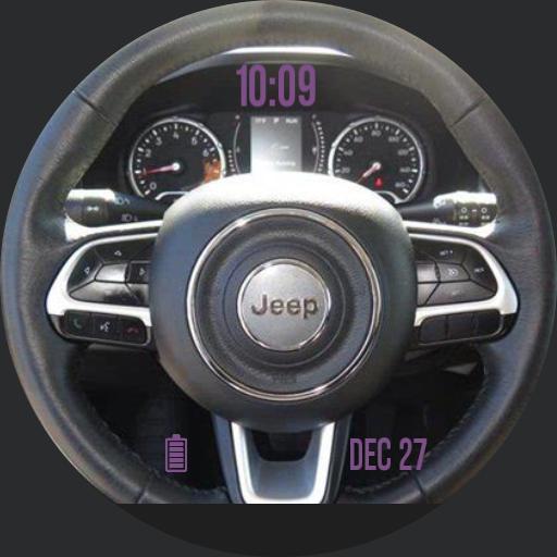 Jeep Steering Wheel digital only