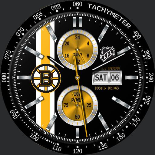 Boston Bruins NHL Racer Black by QWW