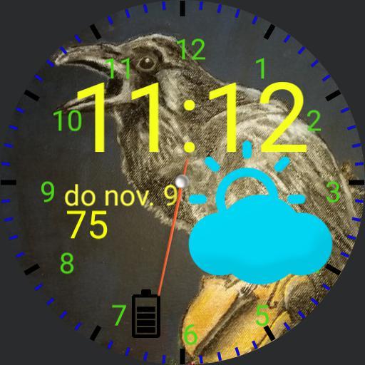 musical raven clock