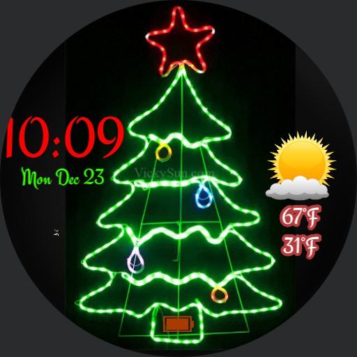 Xmas tree in lights