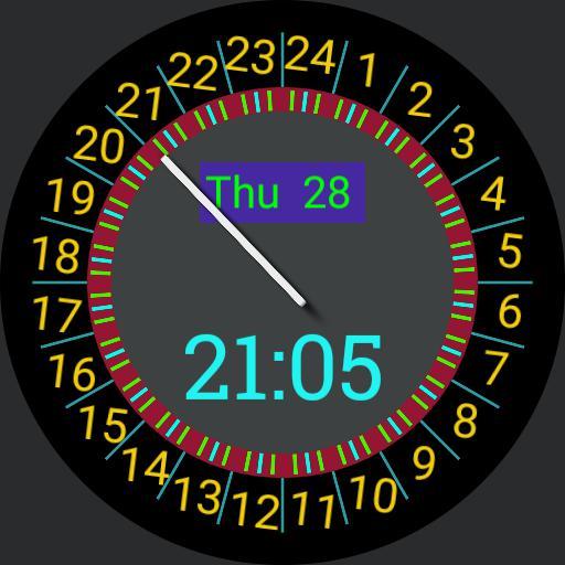 Gnomon Sundial 24h