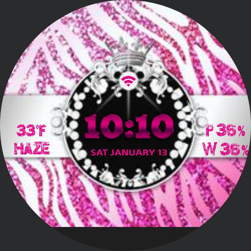 pink zebra bling