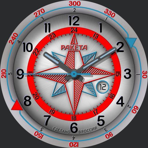 Raketa Compass - Wind Rose