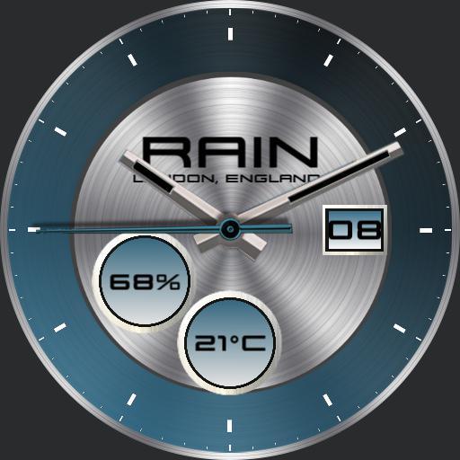 Rain, Turquoise V3