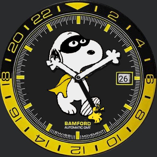 Bamford London 70th Anniversary Snoopy Super Hero GMT