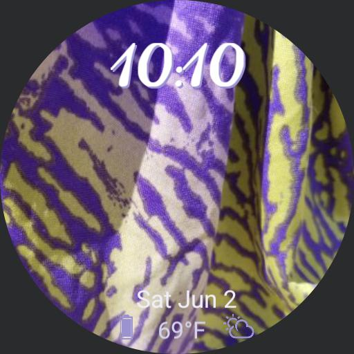 Purple Snake Print