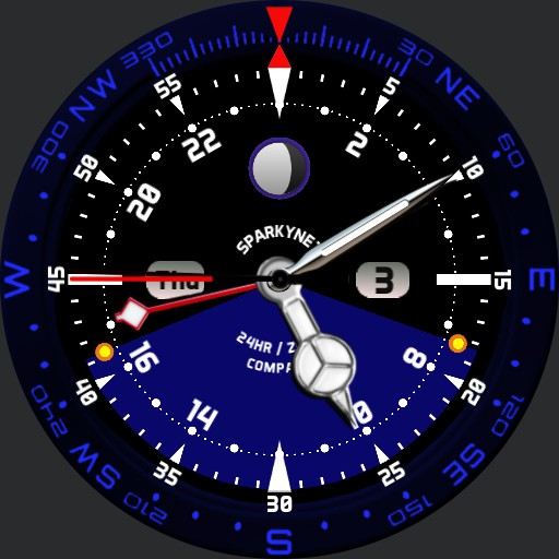 V2 Sparkynet 24Hr Zulu Time Compass  V2