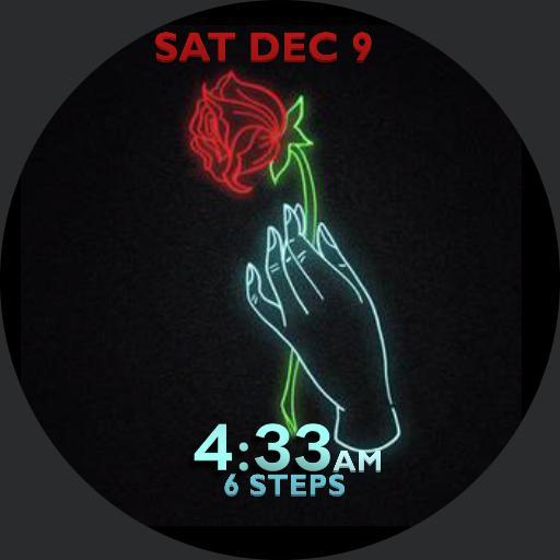 falling neon rose