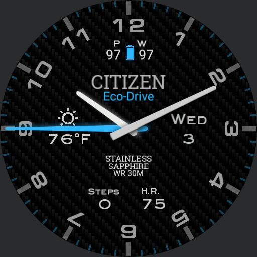 Citizen Blue Glow with Always On Mode 2.0