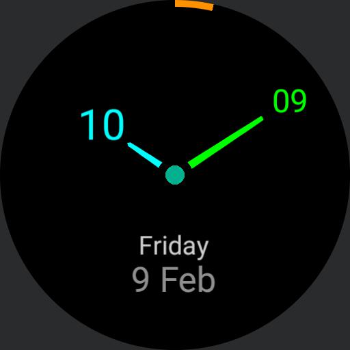 Screen Saver Clock Day date