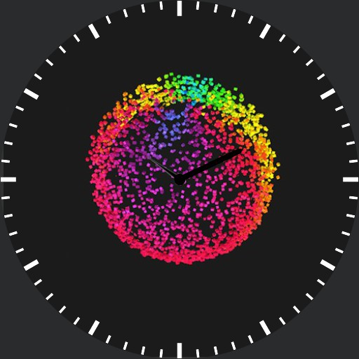 Rainbow sphere animation