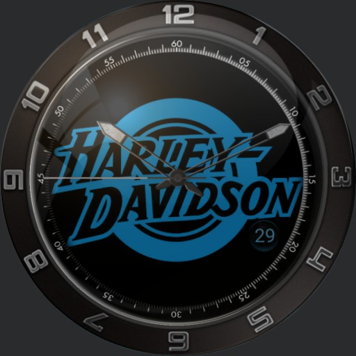 Harley Davidson Retro Blue Copy