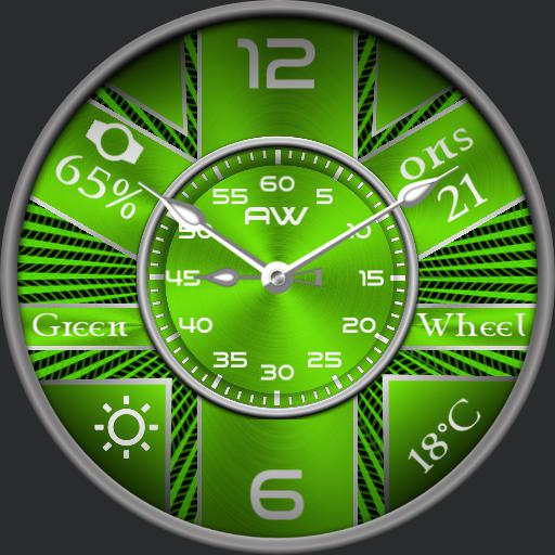 My green wheel based on the face Blue Jean