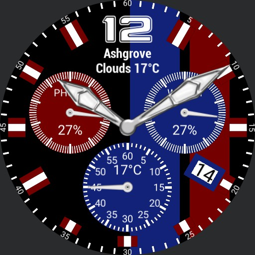 Sports Watch maroon and blue
