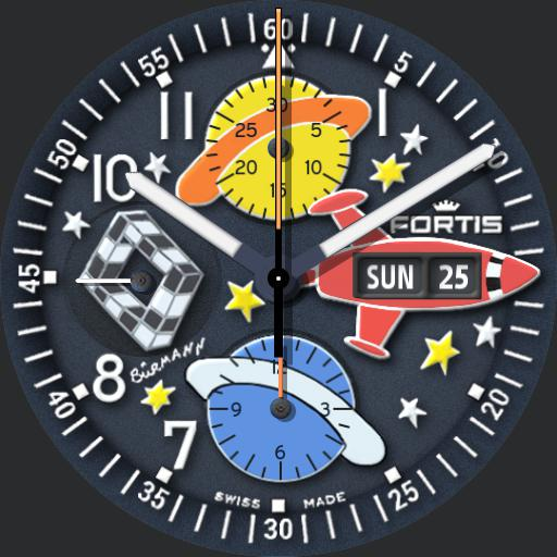 "Fortis ""B42 Flieger - Chronograph"" Sincere Jubilee Space Art Limited Edition"